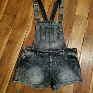 Fire Los Angeles Denim Overalls Shorts